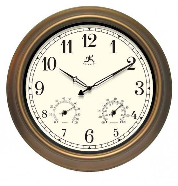 "The Craftsman Wall Clock (Copper) (18"" H x 18"" W x 2.5"" D)"