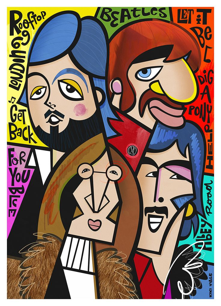 Beatles By Kiki Viale