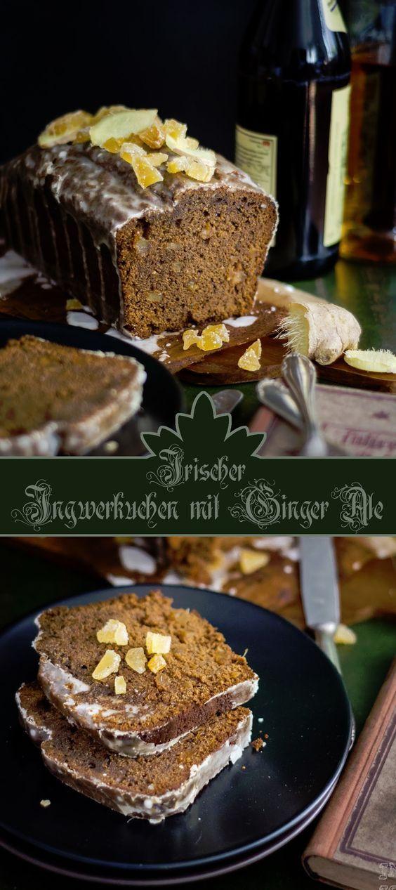 Würziger Ingwerkuchen mit Ginger Ale-Zuckerguss aus Irland /// Irish Ginger Cake with Ginger Ale Topping