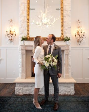 """See how to pull off a glamorous """"elopement-ish"""" wedding like this stylish couple"""