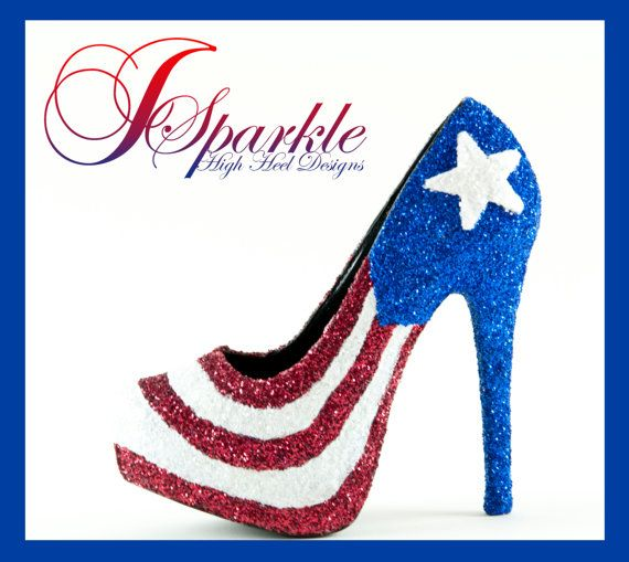 Puerto Rican Flag CUSTOM High Heel PUMP by JSparklesHighHeels, $200.00
