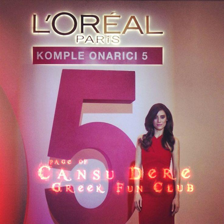 #LOréalParis #Elseve Presentation December 4, 2013 #CansuDere  at the Ritz-Carlton Hotel, Istanbul