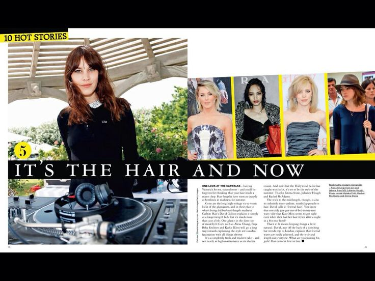 My take on mid length madness in Grazia.