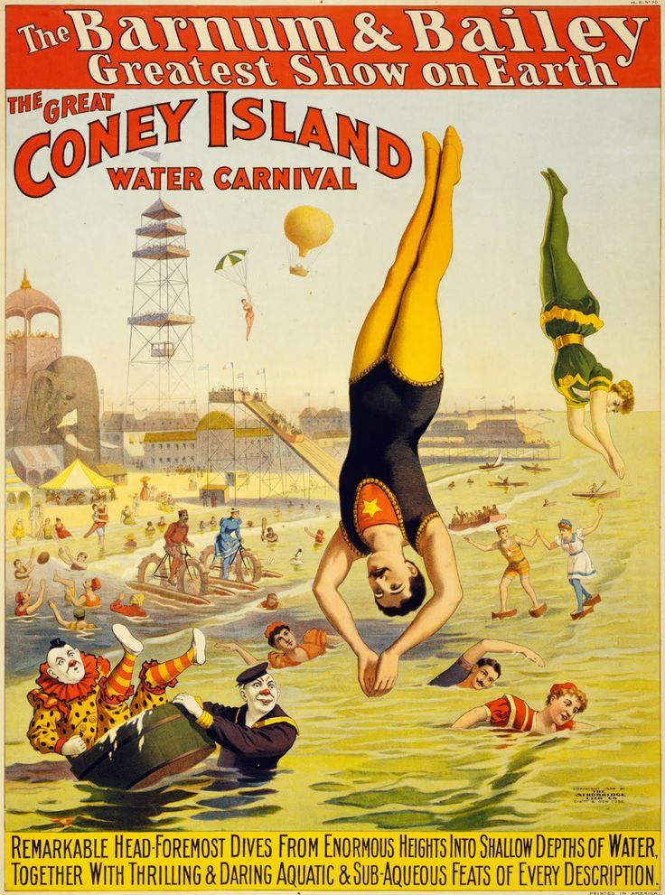 Vintage Americana - Vintage Ephemera: Barnum & Bailey Coney Island Water Carnival