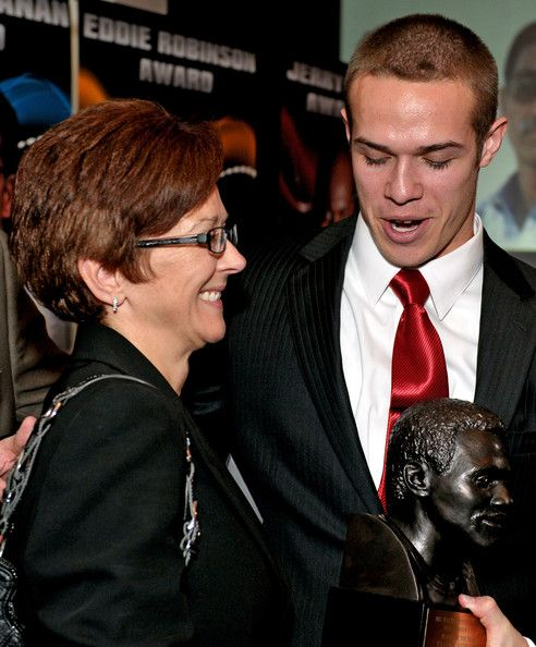 Taylor Heinicke and Diane Dodsworth Photos Photos - Walter Paton Award winner Taylor Heinicke of Old Dominion University and his mother Diane Dodsworth talk during the Sports Network's 26th Annual FCS Awards Presentation at the Sheraton Society Hill on December 17, 2012 in Philadelphia, Pennsylvania. - The Sports Network's 26th Annual FCS Awards Presentation