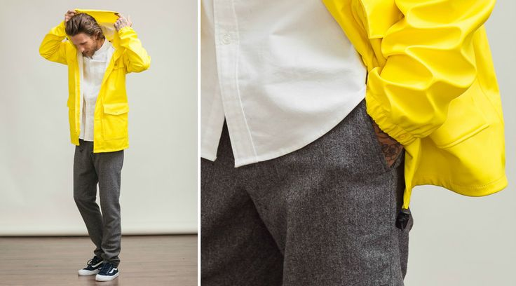 Get The Look: Office-Appropriate Rain Gear For Men - Columbia Ibex jacket, yellow raincoat for men