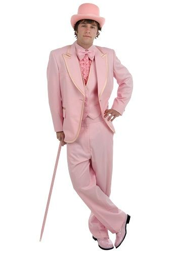 How this is a Halloween costume, I don't know.  I do know that when the day comes that you want a pink tuxedo, you won't be able to find one.  Men's Pink Tuxedo: $219.99