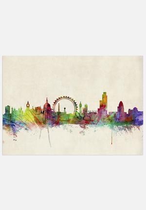 #London Skyline Panoramic, #artpause, #superbalist