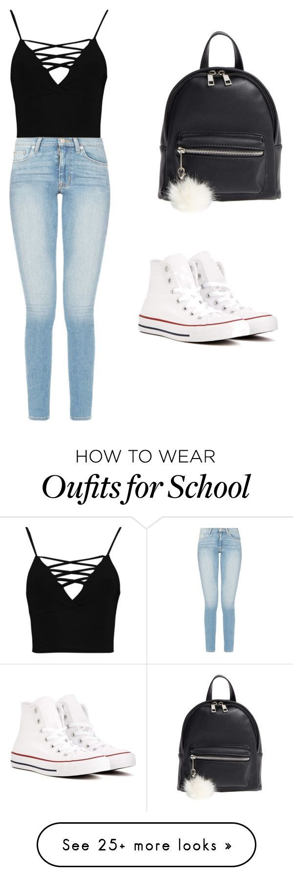 School Outfit #3 #dresscode by nyanamartin on Polyvore featuring Boohoo, Converse and BP.