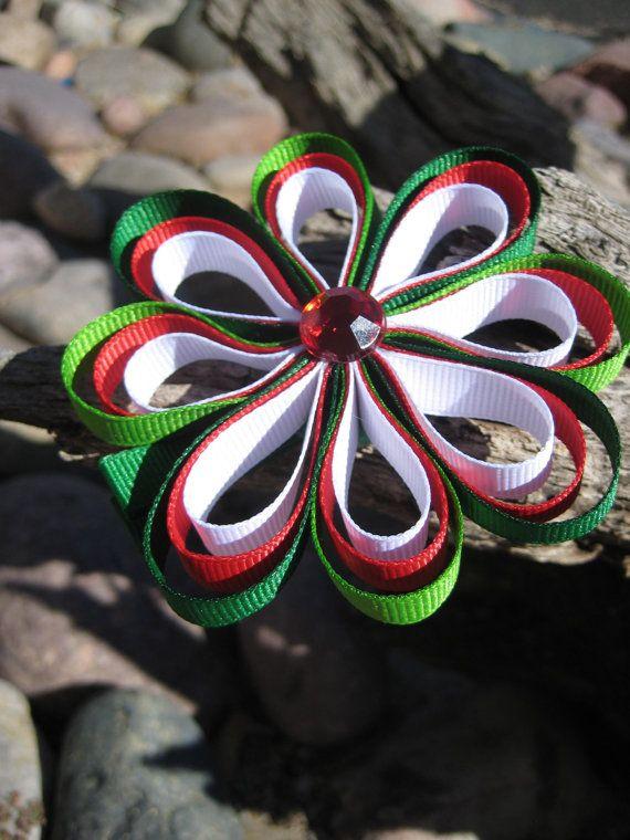 navidad moño flor lazos apliqes