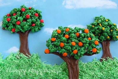 Chocolate Popcorn Trees  ~  Celebrate Earth Day or Spring by making Chocolate Popcorn Trees