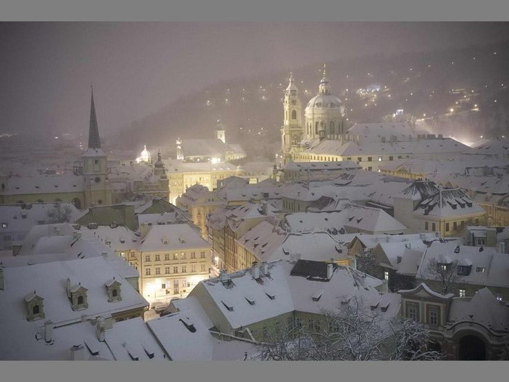 Prague in winter.