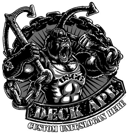 Coast Guard Deck Ape Shirt $17.76