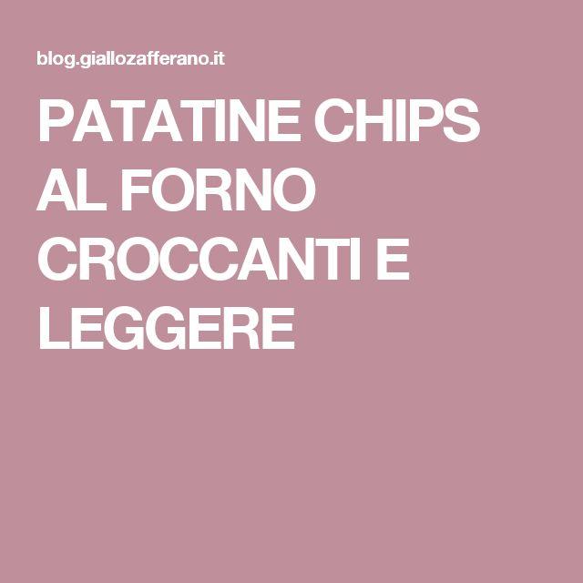 PATATINE CHIPS AL FORNO CROCCANTI E LEGGERE