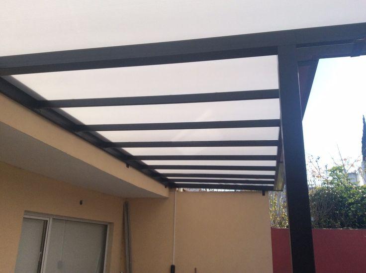 Pergolas de hierro en ca o estructural a medida con techo - Lamina de hierro ...