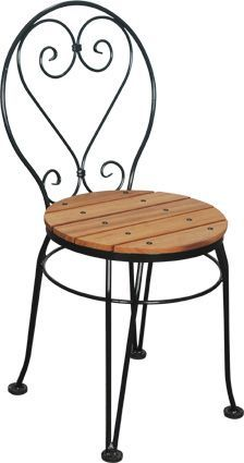 Charming French Bistro Chairs | Wrought Iron Chairs | Kitchen Chairs Más