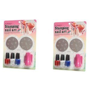 2xkonad Usa Stamping Nail Art Starter Pink Set C by Konad stamping nail art. $34.75. 2x konad starter pink set C. C-Set Package Includes: * 2 Image Plates * 3 Special Polishes (5 mL / 0.175 Fl. Oz.) * 1 Stamp * 1 Scraper Image Plates: M2, M3 Special Polish: White, Red, Blue