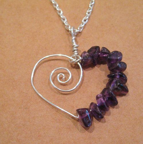 Amethyst Spiral Heart jewelry-making