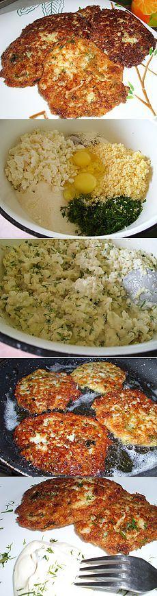 Оладьи из цветной капусты с сыром | Рецепты моей мамы