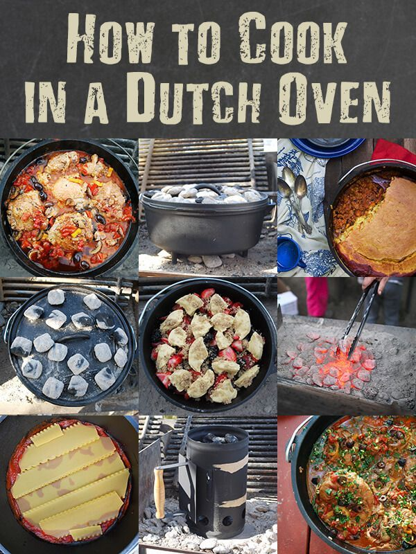 Just because you are camping, doesn't mean you have to scrimp on food. Once you learn how to cook in a Dutch Oven, your camp meals can gourmet!