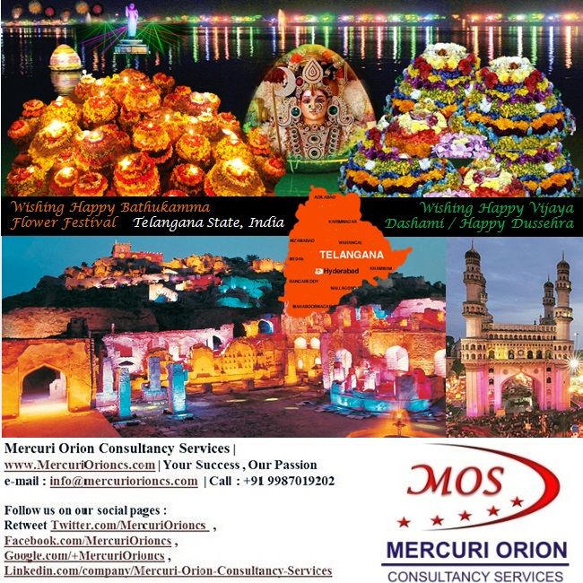 Wishing all Happy #Bathukamma Festival celebrated at Tank Bund #Hyderabad capital of #TelanganaState India. (02Oct-2014)   Wishing all Happy #VijayaDashami / Happy #Dussehra / Happy #DurgaPuja     Mercuri Orion Consultancy Services | http://www.MercuriOrioncs.com |  Your Success,Our Passion