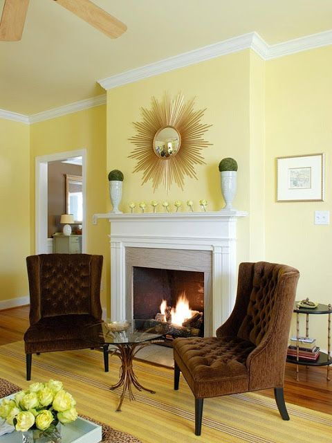 129 Best Yellow Living Room Images On Pinterest