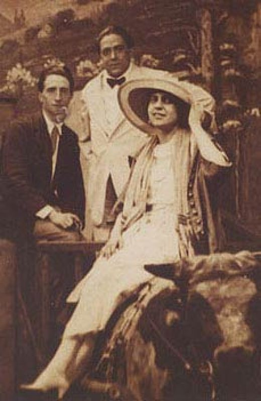 Beatrice Wood, the real Rose Calvert (from Titanic).  She lived to be 105 years old, and led an absolutely extraordinary life.