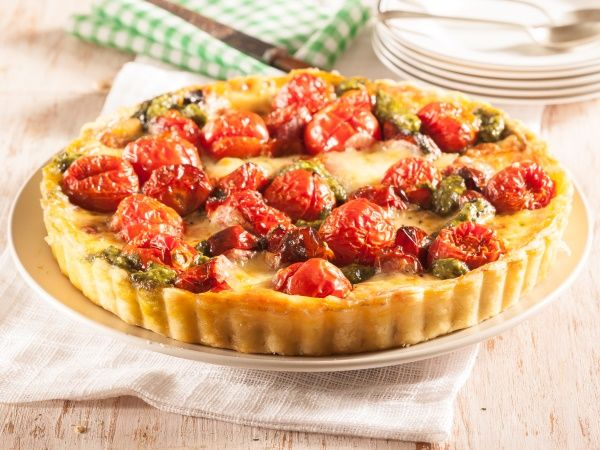Cheesy vegetable tart • These pastry treats can be enjoyed as a meal or starter.
