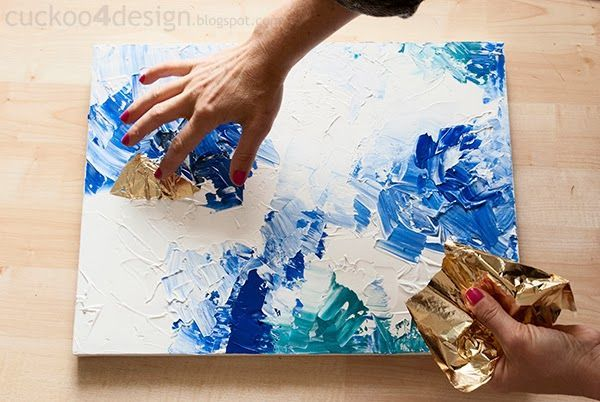 DIY Abstract Artwork Tutorial - - this really does look doable!