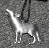 Wolf Necklace - Sportsmans Pewter Necklace #523z