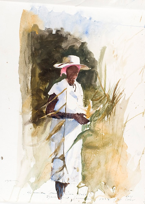 White Picket Fence Painting