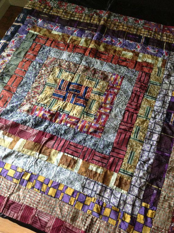 Tie Quilt Handmade 1920 Sulka Ties by TINTdesignresource on Etsy, $1200.00