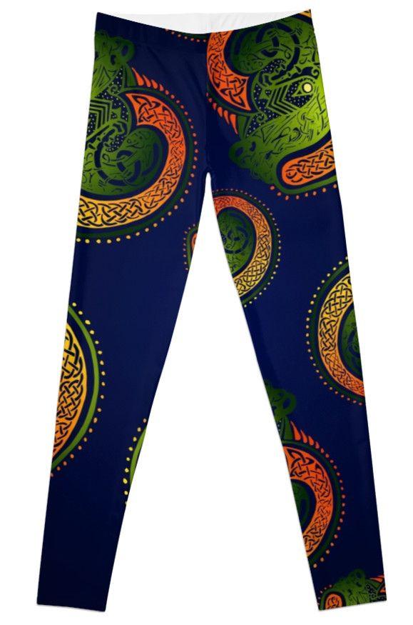 'Celtic Twists' Leggings from Redbubble. #leggings #redbubbleleggings #redbubble #irish #celtic #gaelic #fashion #stylish #stpatricksday #paddysday #folklore #legends #unique #designerthreads #legwear #new #trending #now #bono #pogues #ireland