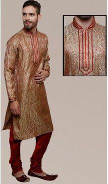 Beige Color Brocade Party Wear Readymade Men Churidar Kurta | FH554982877 Follow us @heenastyle  #menethnicwear #kurtapyjama #diwalidhamaka #menwear #ethnicwear #menethnicwear #kurta #menkurta #menkurtapyjama #Sherwani #indiankurtapyjama #instalike #instalove #follow4follow.#bhaiKiShaad#shervani #tradional #lucknow #selfiee #throwback #marriage #shervani #manyavar #heenastyle #menskurtapajama #menchuridarkurta