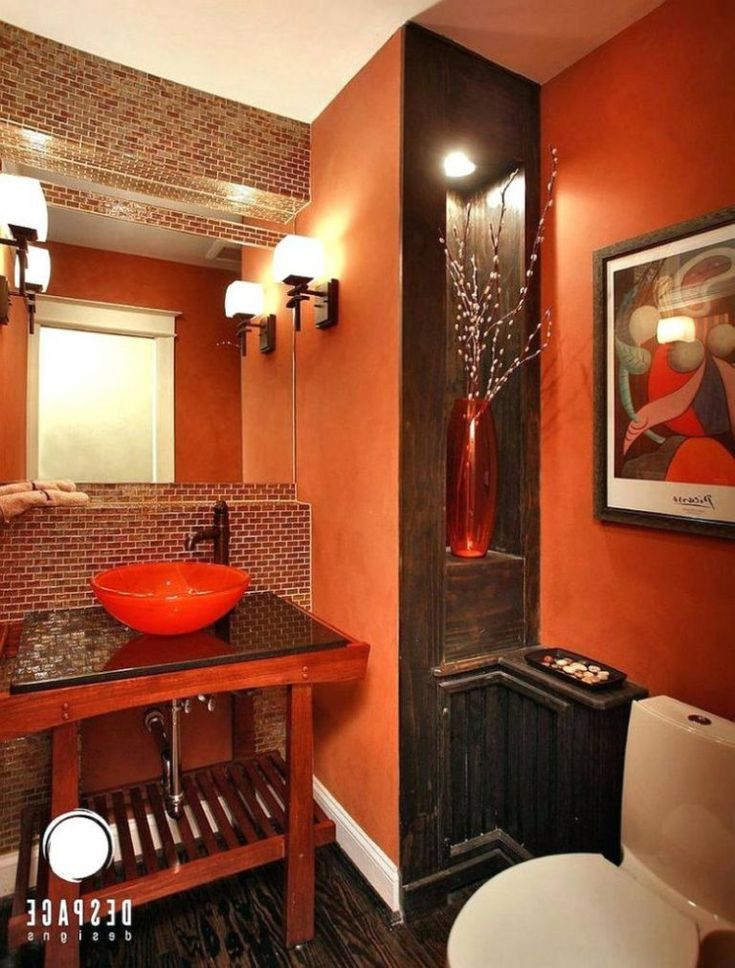 Burnt Orange Bathroom Rug