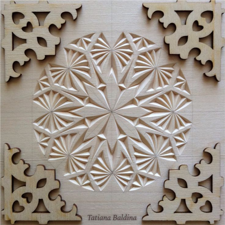 Chip carving design by tatiana baldina