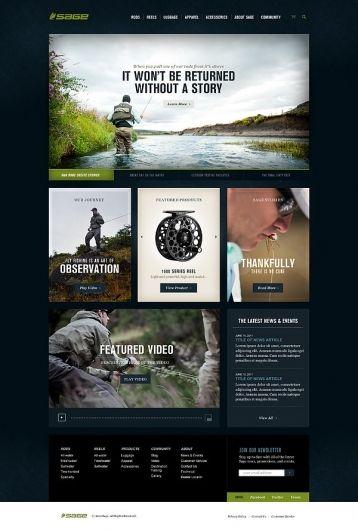 Sage Fly Fishing on Web Design Served. 30 best D E S I G N   U I images on Pinterest   Website designs