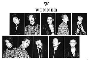 O-66018 Winner (Band) South Korea Boy Band Collections, Decorative Poster Print Vintage New Size: 35 X 24 Inch.