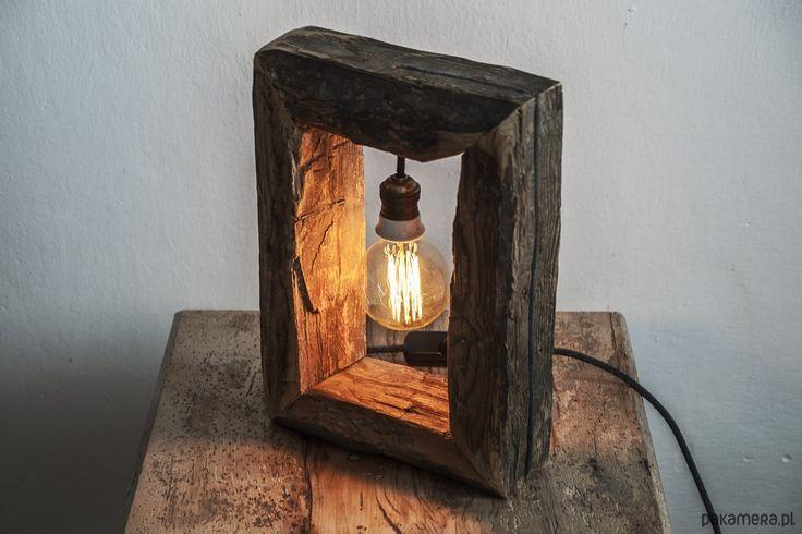 Lampka ze starego drewna - lampy - Pakamera.pl