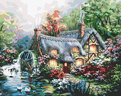 These Paint By Number Victorian Garden Kits make a perfect gift for yourself or anyone who enjoys cottages and gardens. Makes it easy to be an artist!