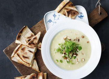 Blomkål-porre-suppe