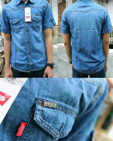 jual kemeja jeans pria 089677558000 / 2327eca1