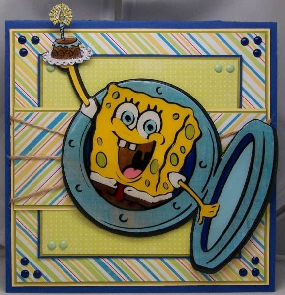12 best images about party sponge bob – Spongebob Birthday Cards