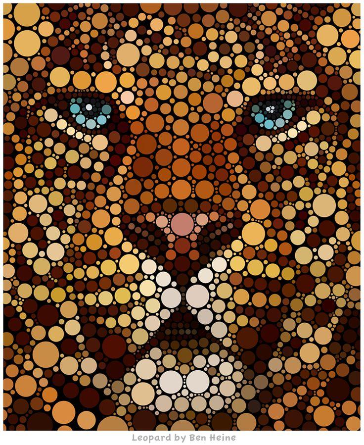 Awesome Digital Circlism Artwork by Ben Heine | InspiringMesh