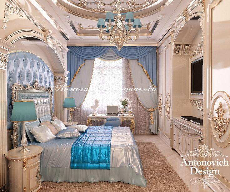 Сказочная пышная спальня в стиле барокко - Дизайн спальни