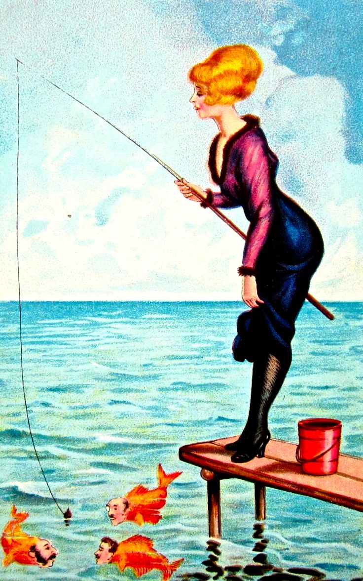 Открытки рыбачка я рыбак