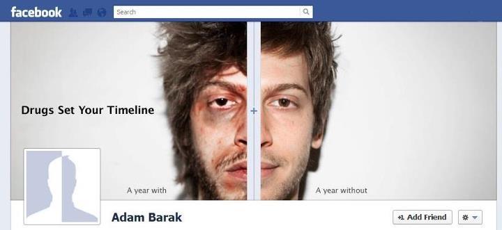 Kolejna ciekawa kampania z użyciem Timeline.Tym razem Izraelska organizacja antynarkotykowa. https://www.facebook.com/Antidrugstimeline