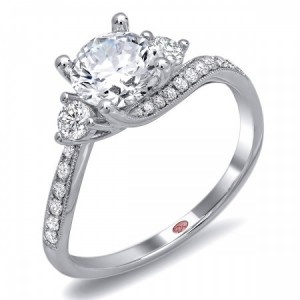 THIS is my dream ring.... I love how simple yet gorgeous it is! #TheKnot #DreamEngagementRing.
