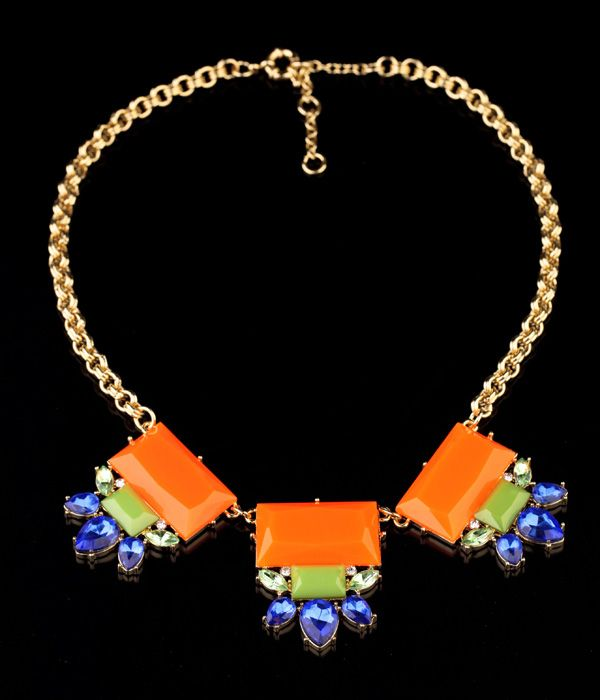 Stylish Orange Red Pendant Necklace   Read More:   http://www.fashionant.com/stylish-orange-red-pendant-necklace-462.html