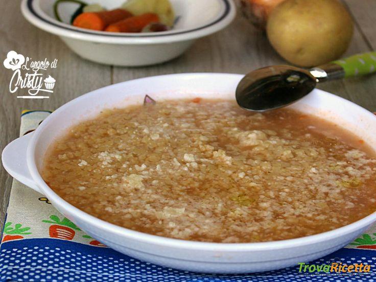 BRODO DI POLLO CON STELLINE E PARMIGIANO  #ricette #food #recipes